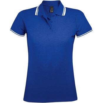 Îmbracaminte Femei Tricou Polo mânecă scurtă Sols PASADENA MODERN WOMEN Azul
