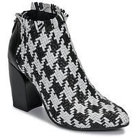 Pantofi Femei Botine Mimmu JESTINE Negru / Alb