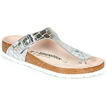 Pantofi Femei  Flip-Flops Birkenstock GIZEH Silver