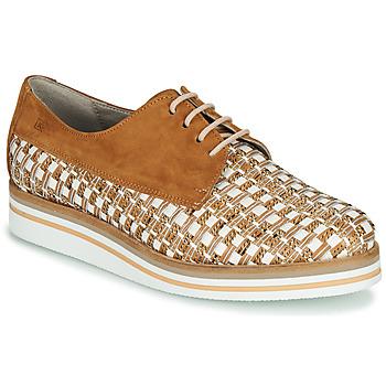 Pantofi Femei Pantofi Derby Dorking ROMY Maro / Alb