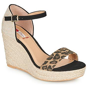 Pantofi Femei Sandale  S.Oliver NOULATI Negru / Leopard
