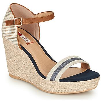 Pantofi Femei Sandale  S.Oliver NOULATI Bej / Bleumarin