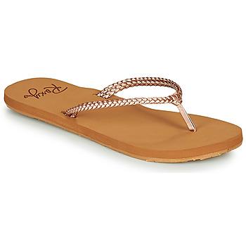 Pantofi Femei  Flip-Flops Roxy COSTAS Roz / Auriu