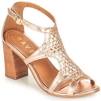 Pantofi Femei Sandale  Ravel COREEN Roz / Auriu