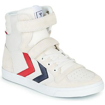 Pantofi Copii Pantofi sport stil gheata Hummel SLIMMER STADIL LEATHER HIGH JR Alb