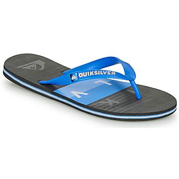 Pantofi Bărbați  Flip-Flops Quiksilver MOLOKAI WOLRDBLOCK Albastru / Negru