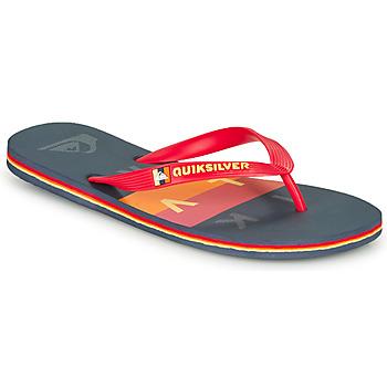 Pantofi Bărbați  Flip-Flops Quiksilver MOLOKAI WOLRDBLOCK Albastru / Roșu