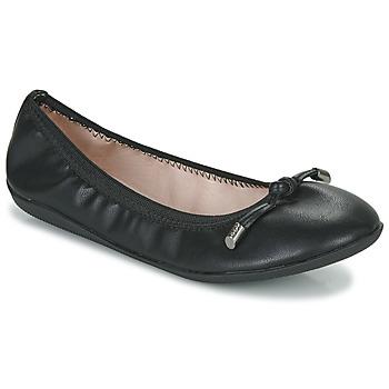Pantofi Femei Balerin și Balerini cu curea Les Petites Bombes AVA Negru