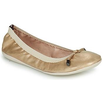 Pantofi Femei Balerin și Balerini cu curea Les Petites Bombes AVA Auriu
