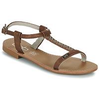Pantofi Femei Sandale  Les Petites Bombes EMILIE Camel