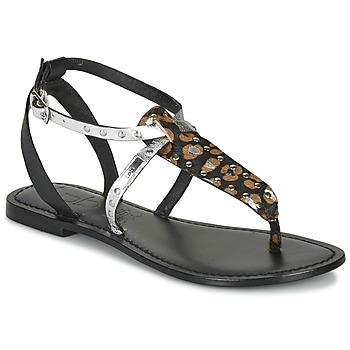 Pantofi Femei Sandale  Les Petites Bombes ALIX Negru / Argintiu