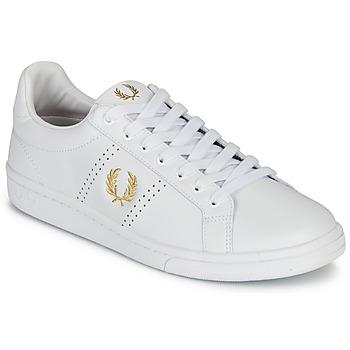 Pantofi Bărbați Pantofi sport Casual Fred Perry B721 LEATHER Alb