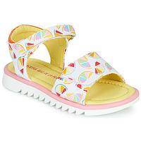Pantofi Fete Sandale  Agatha Ruiz de la Prada SMILES Alb /  multicolor