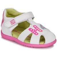 Pantofi Fete Sandale  Agatha Ruiz de la Prada HAPPY Alb / Roz