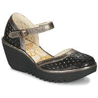 Pantofi Femei Pantofi cu toc Fly London YVEN Black / Bronz