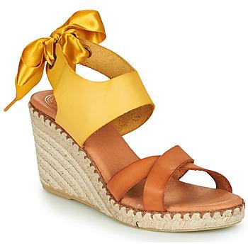 Pantofi Femei Sandale  Pataugas FIONA Coniac / Galben