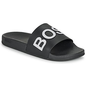 Pantofi Bărbați Șlapi BOSS BAY SLID RBLG Negru / Alb