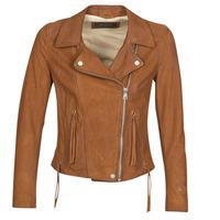 Îmbracaminte Femei Jachete din piele și material sintetic Oakwood ANGIE Maro