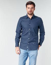 Îmbracaminte Bărbați Cămăsi mânecă lungă Pepe jeans ADAN Bleumarin