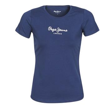 Îmbracaminte Femei Tricouri mânecă scurtă Pepe jeans NEW VIRGINIA Albastru
