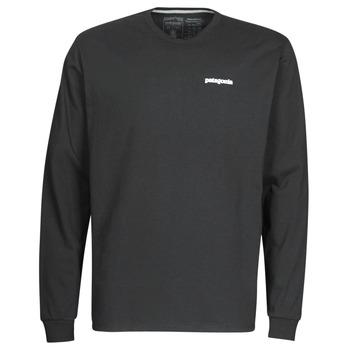 Îmbracaminte Bărbați Tricouri cu mânecă lungă  Patagonia M's L/S P-6 Logo Responsibili-Tee Negru