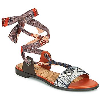 Pantofi Femei Sandale  Desigual JUNGLE AFRICA Bleumarin / Alb