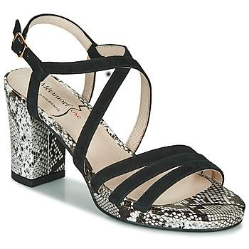 Pantofi Femei Sandale  Metamorf'Ose GABARIT Negru / Piton