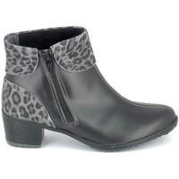 Pantofi Femei Botine Boissy Boots Noir Leopard Negru