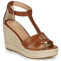 Pantofi Femei Sandale  Lauren Ralph Lauren HALE ESPADRILLES CASUAL Coniac