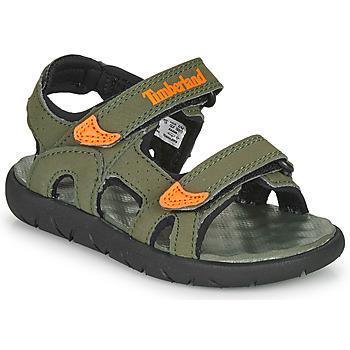 Pantofi Copii Sandale  Timberland PERKINS ROW 2-STRAP Verde / Portocaliu