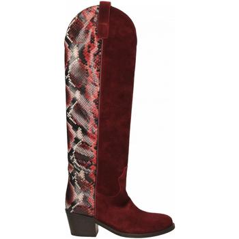 Pantofi Femei Cizme casual Via Roma 15 TEXANO ALTO 347 chianti-rosso
