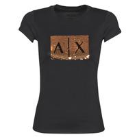 Îmbracaminte Femei Tricouri mânecă scurtă Armani Exchange HONEY Negru