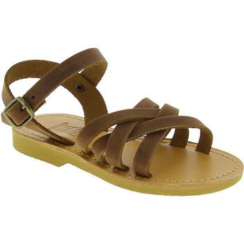 Pantofi Fete Sandale  Attica Sandals HEBE NUBUK DK BROWN Marrone medio