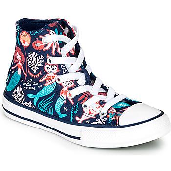 Pantofi Fete Pantofi sport stil gheata Converse Chuck Taylor All Star Underwater Party Albastru
