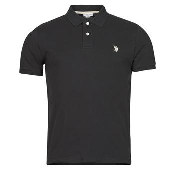 Îmbracaminte Bărbați Tricou Polo mânecă scurtă U.S Polo Assn. INSTITUTIONAL POLO Negru