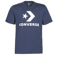 Îmbracaminte Bărbați Tricouri mânecă scurtă Converse STAR CHEVRON TEE Albastru