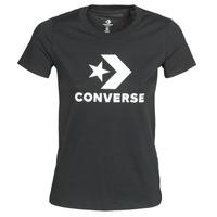 Îmbracaminte Femei Tricouri mânecă scurtă Converse STAR CHEVRON TEE Negru