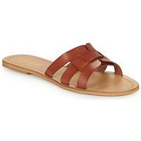 Pantofi Femei Papuci de vară So Size MELINDA Camel