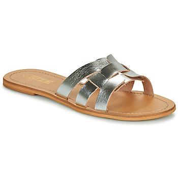 Pantofi Femei Papuci de vară So Size MELINDA Argintiu