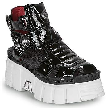 Pantofi Femei Sandale  New Rock LIYA Negru / Alb