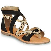 Pantofi Femei Sandale  Les Tropéziennes par M Belarbi POPS Negru / Leopard