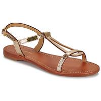 Pantofi Femei Sandale și Sandale cu talpă  joasă Les Tropéziennes par M Belarbi HAMAT Auriu / șarpe
