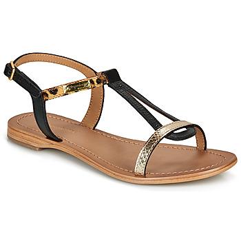 Pantofi Femei Sandale și Sandale cu talpă  joasă Les Tropéziennes par M Belarbi HAMAT Negru / Leopard