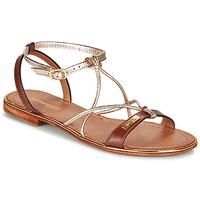 Pantofi Femei Sandale și Sandale cu talpă  joasă Les Tropéziennes par M Belarbi HIRONDEL Tan / Auriu