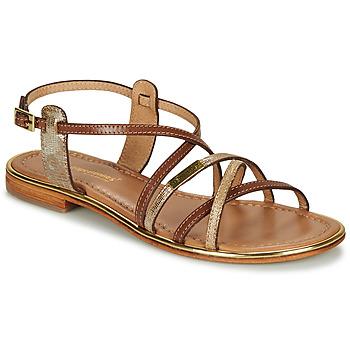 Pantofi Femei Sandale și Sandale cu talpă  joasă Les Tropéziennes par M Belarbi HARRY Tan / Auriu