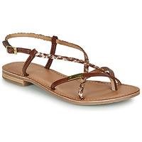 Pantofi Femei Sandale și Sandale cu talpă  joasă Les Tropéziennes par M Belarbi MONATRES Tan / Auriu