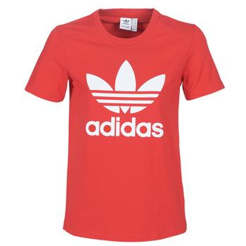 Îmbracaminte Femei Tricouri mânecă scurtă adidas Originals TREFOIL TEE Roșu / Lush
