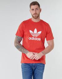 Îmbracaminte Bărbați Tricouri mânecă scurtă adidas Originals TREFOIL T-SHIRT Roșu / Lush