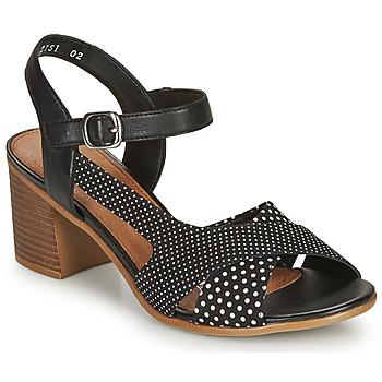 Pantofi Femei Sandale  Remonte Dorndorf MOSKI Negru / Alb