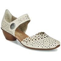 Pantofi Femei Pantofi cu toc Rieker KIRIN Bej